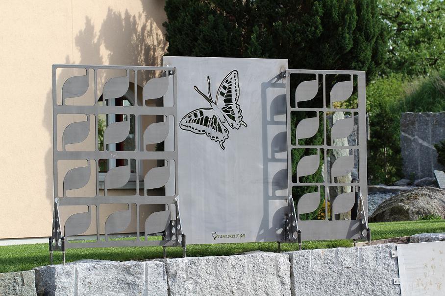 Sichtschutz mit Schmetterlingmotiv