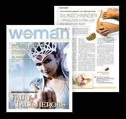 Pressebericht woman in the city, 10/11-2015: Die NATURHEILPRAXIS HAMBURGCITY hilft kinderlosen Paaren: WUNSCHKINDER - STRAHLENDE ELTERN UND EIN GESUNDES BABY