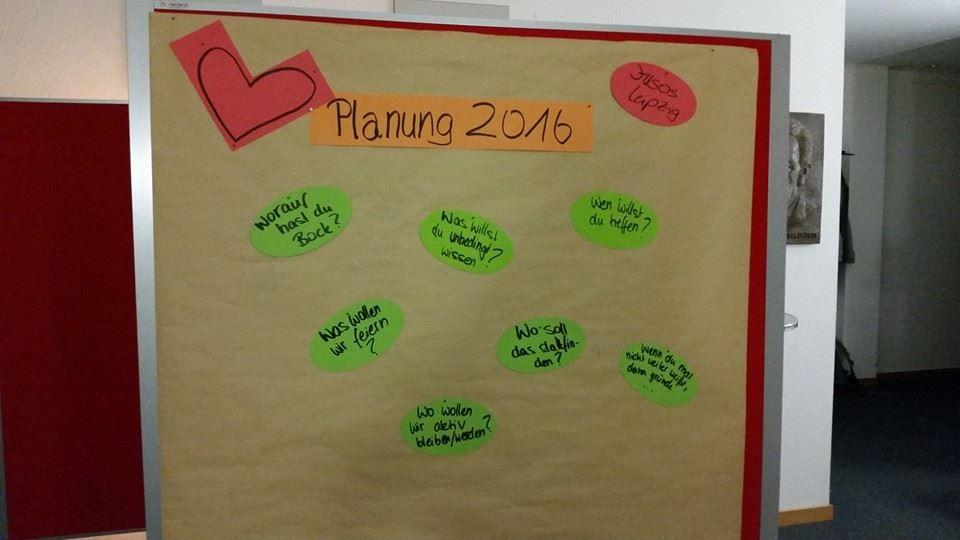Aktionen wollen gut vorbereitet sein - Jahresplanung für 2016