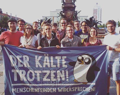Jusos Leipzig trotzen der gesellschaftlichen Kälte! #nolegida