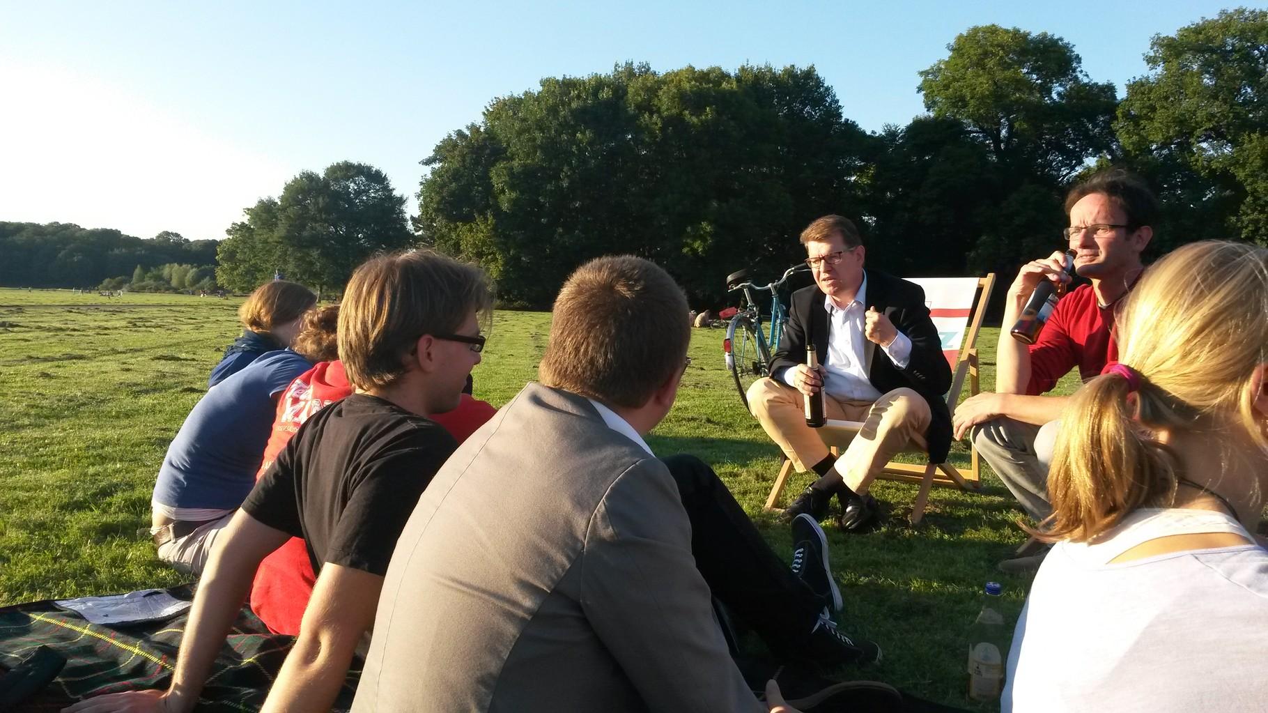 Jusos im Gespräch mit Ralf Stegner