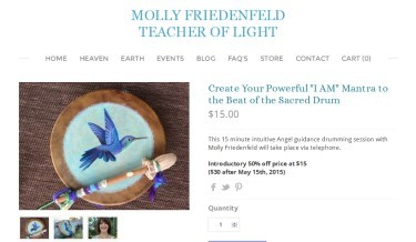 Healer / Teacher Molly Friedenfeld's Hummingbird Drum