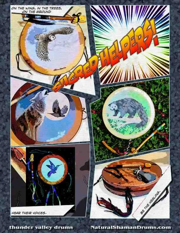"Thunder Drums and Hummingbird Drums from Shaman Drums And More (ShamanDrumsAndMore.com), and featured in the ""Book of Drums"""