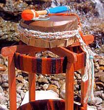 A closeup of the Lightning Sprite Drum
