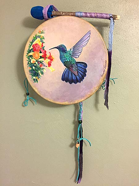 hummingbird drum from thunder valley drums and shaman drums and more