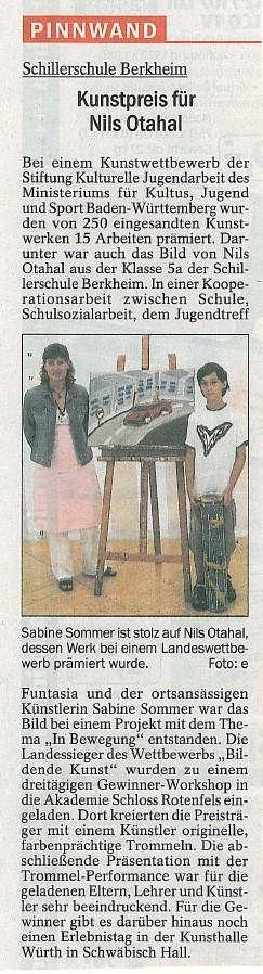 Quelle: Esslinger Zeitung Juni 2008