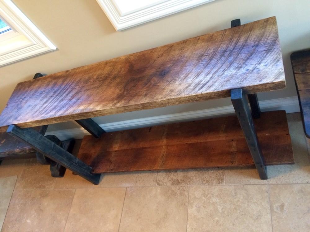 Entry table barn board