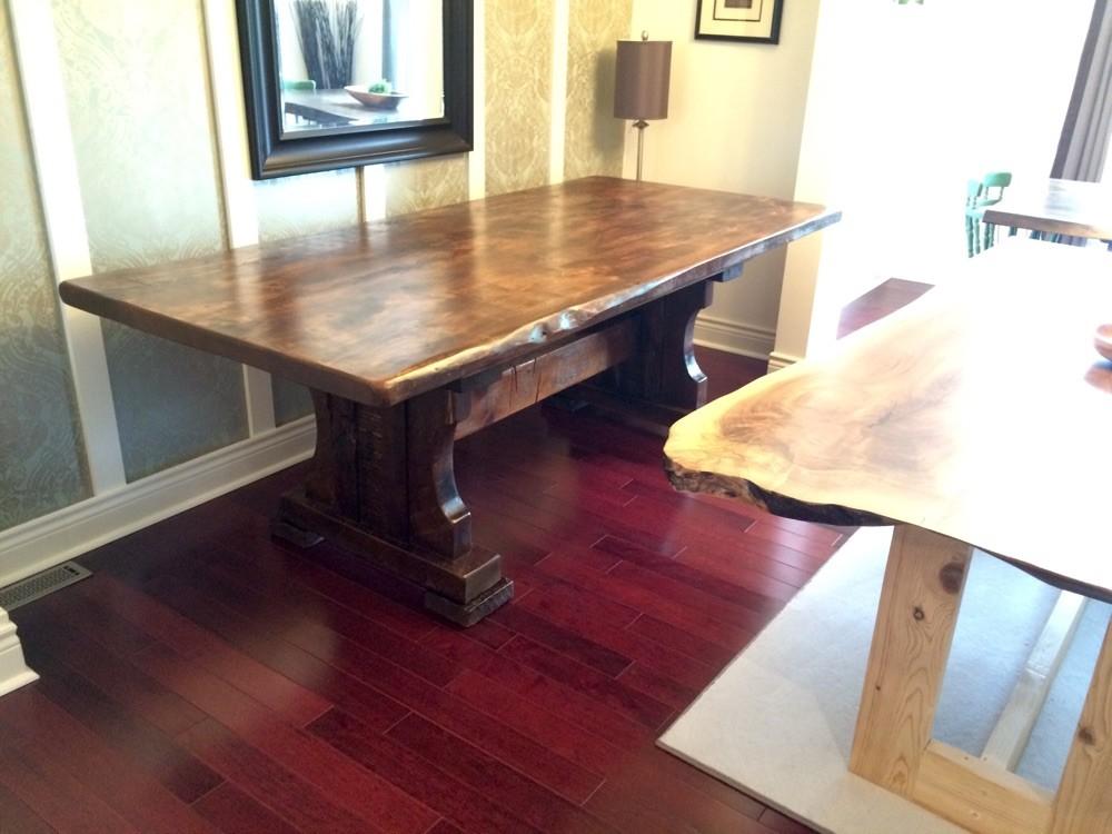 Reclaimed table base
