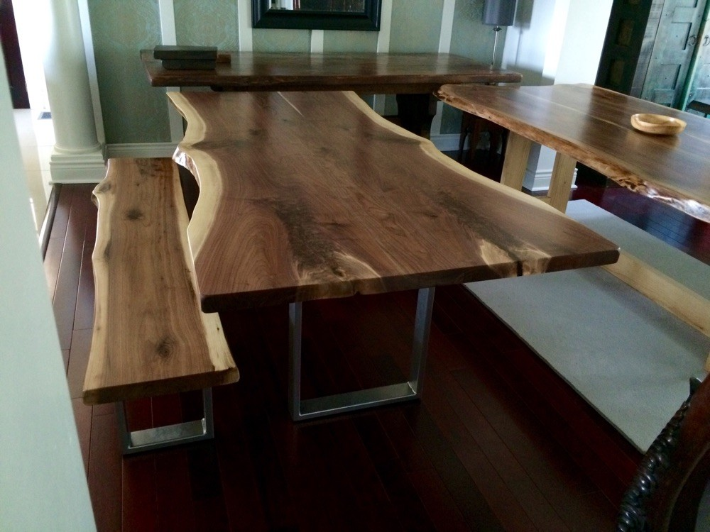 Walnut bookmatched