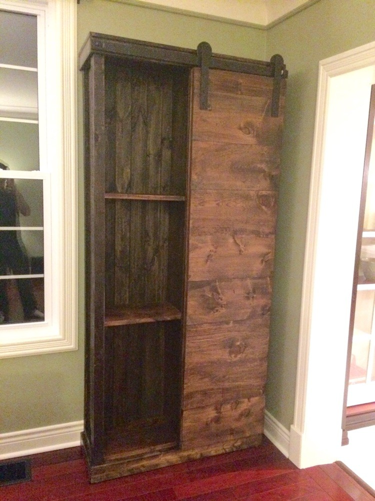 Sliding door display cabinet/media