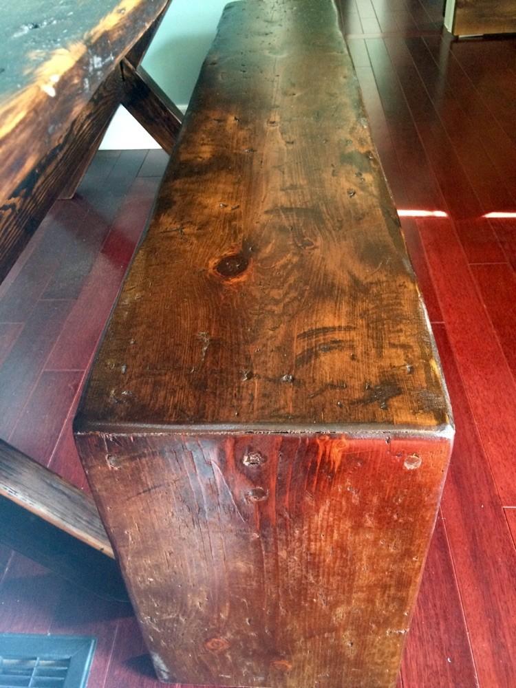 Bench barn board