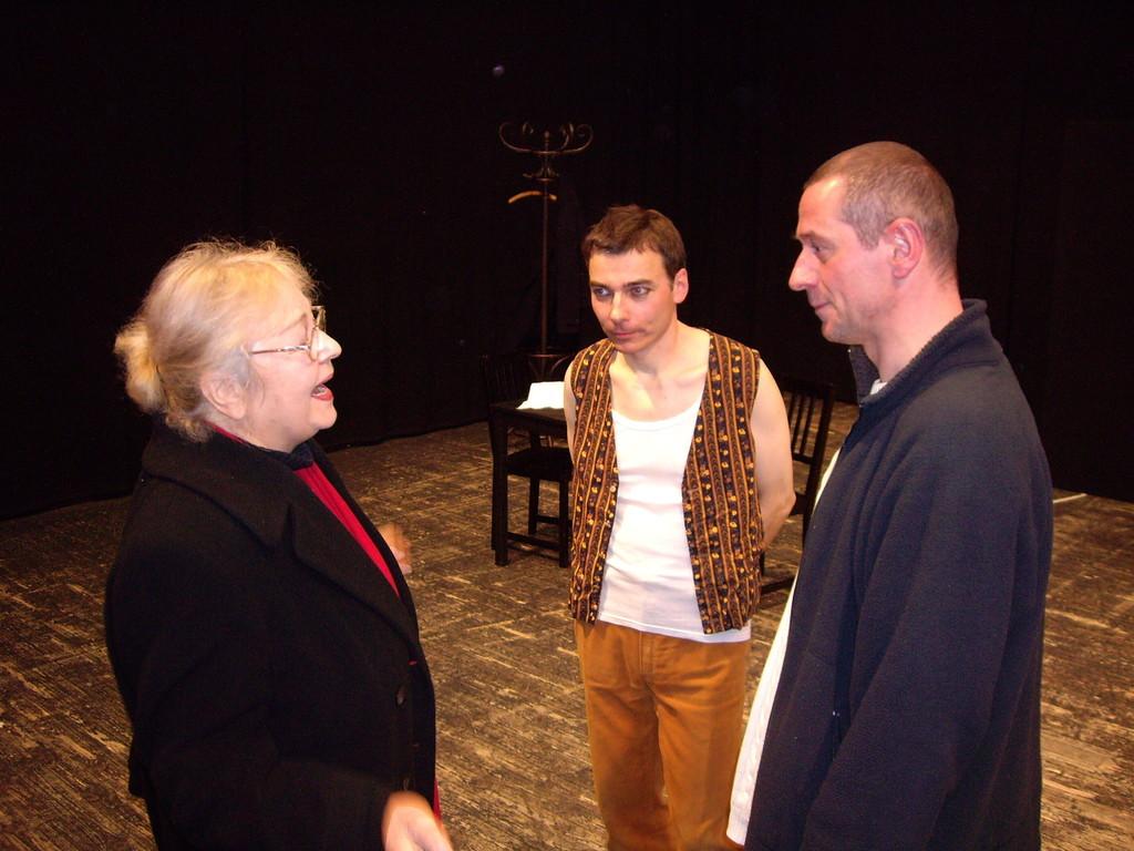 Ruth, Jan und Jürgen (v.l.) in der Landesbühne