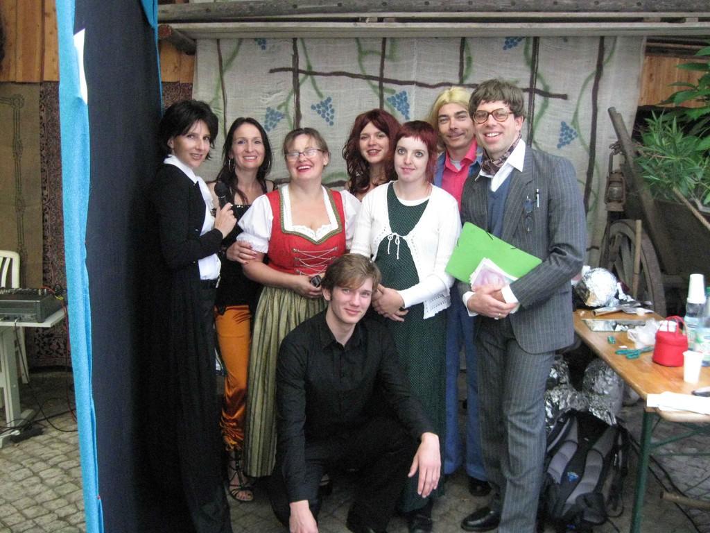 Nach dem Auftritt: Radebeuler Weinfest 2010