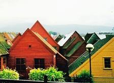 ノルウェー ベルゲン市街 2003年6月               小島美代子氏提供