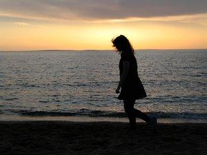 'eenzame wandeling' rgbstock