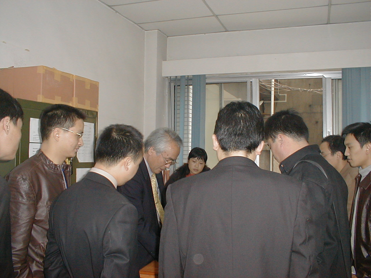 2004.10 Visit to Sichuan, China, introducing electricity saving technology of our own