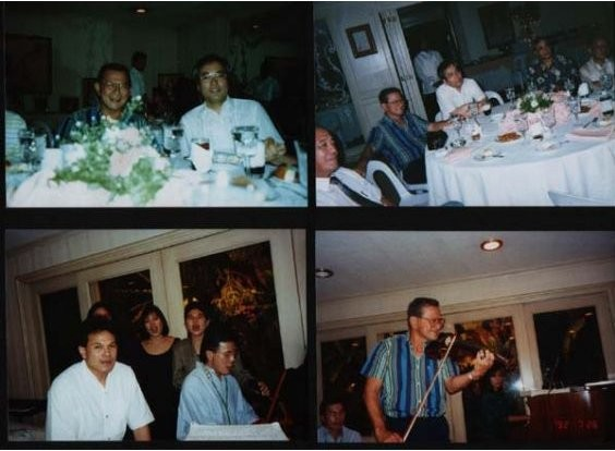 1992, in the Philippines, a party at then Vice President Laurel's residence