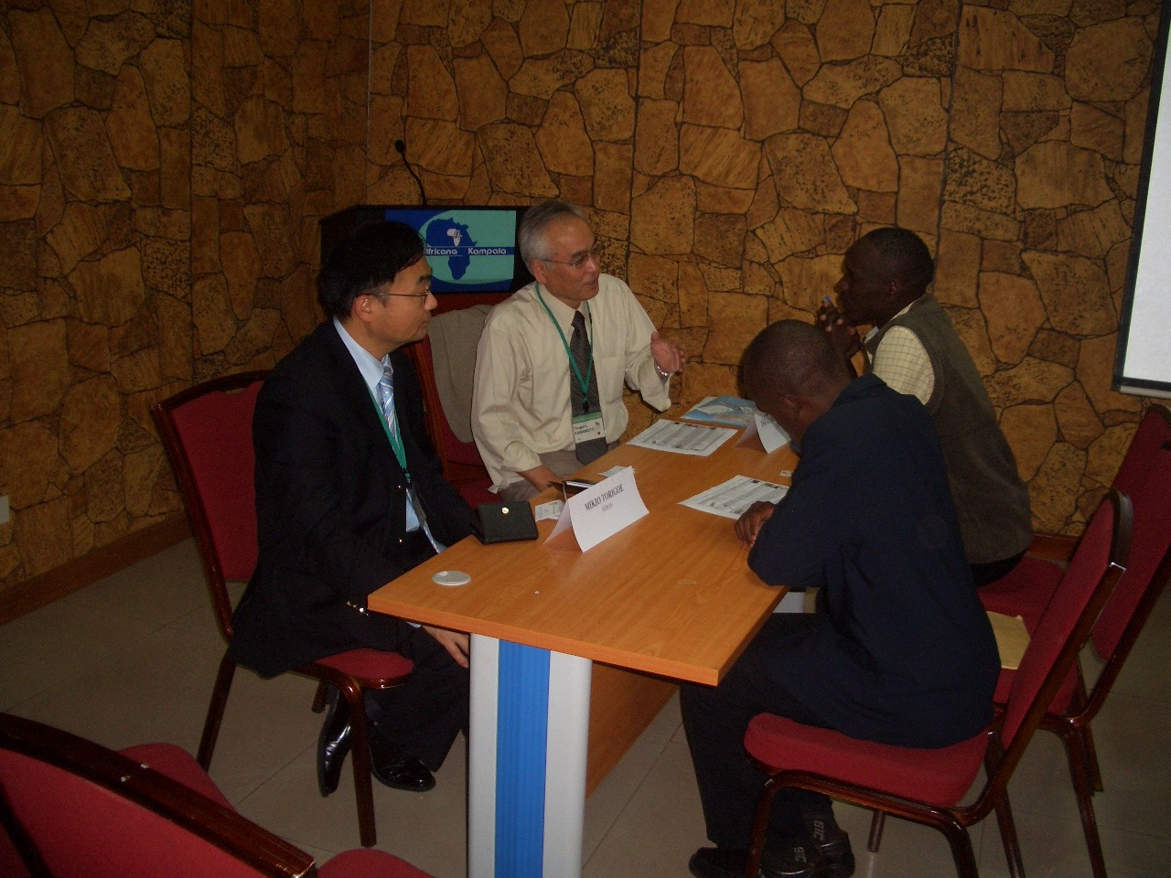 2008.09 Visit to Uganda, National business promotion tour, providing advice on technology export