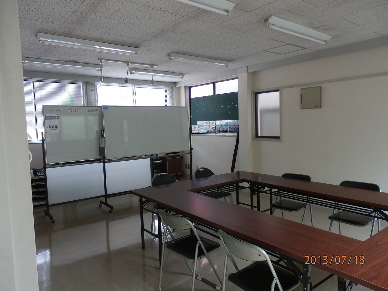 KECビル2階、201号室(10坪)内部(講義室として使用)