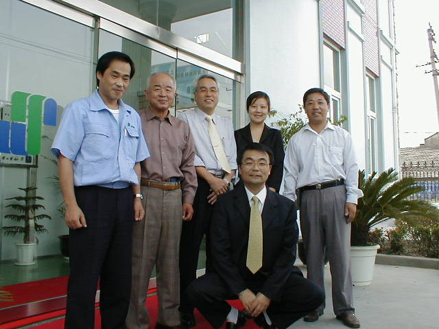 2002年 中国ビジネス支援  後に㈱青藍アドバイザーに Started business supporting in China in 2002, An adviser for SEIRAN Co. Ltd. later