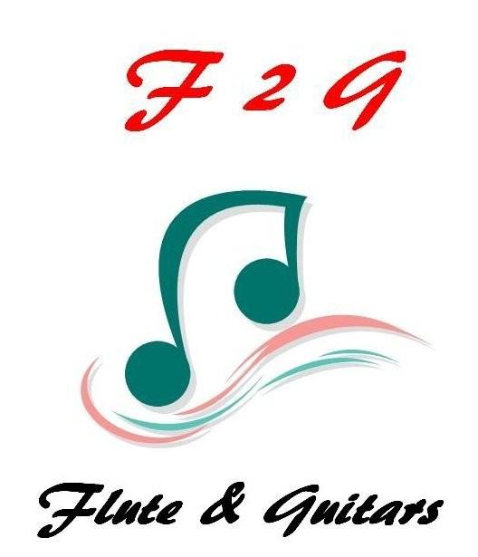 F2G(エフ・ツー・ジー)ロゴ (フルート:板原、2ndギター:和田、3rdギター:釜本)