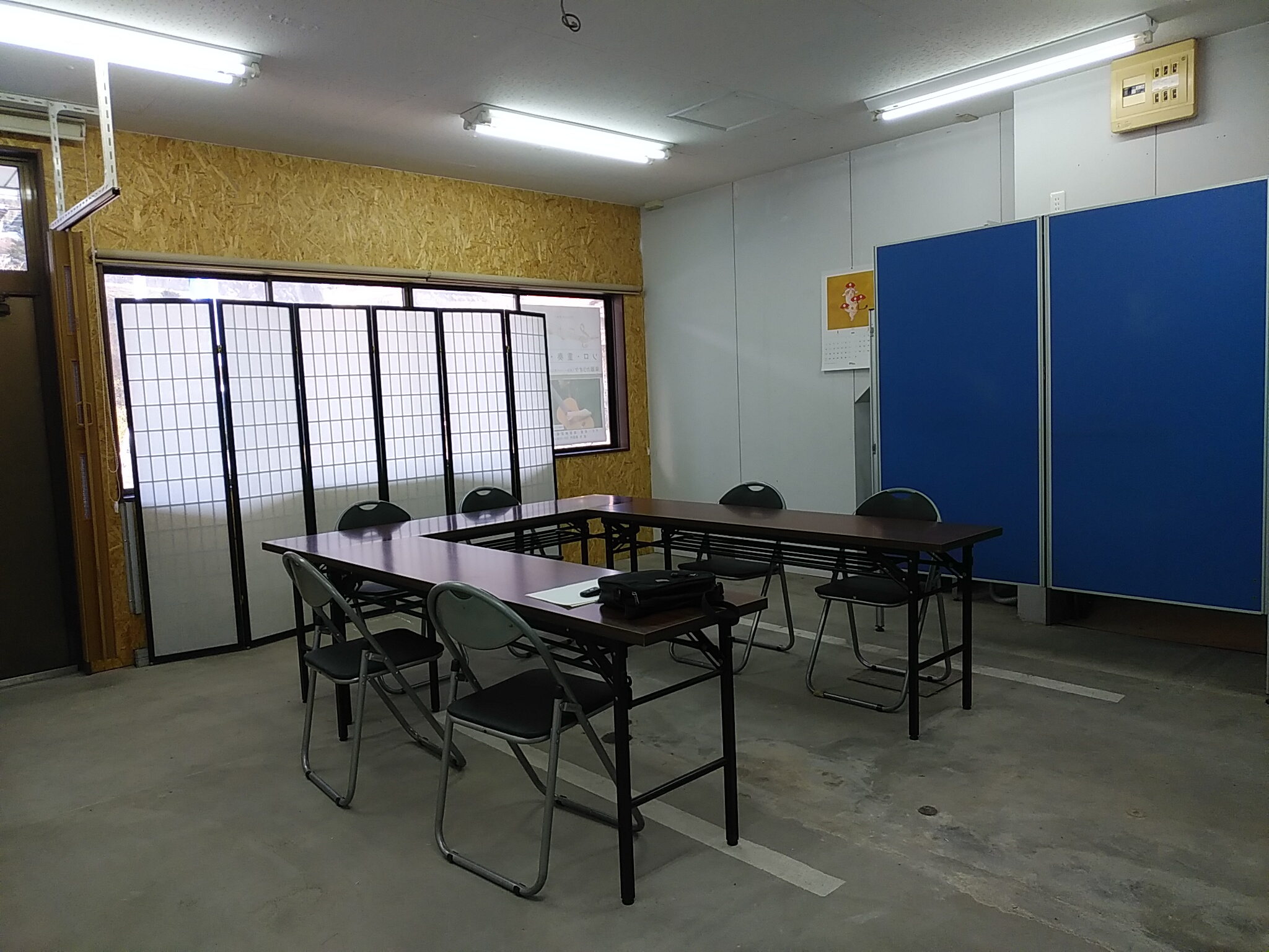多目的自由空間(部屋)の内部