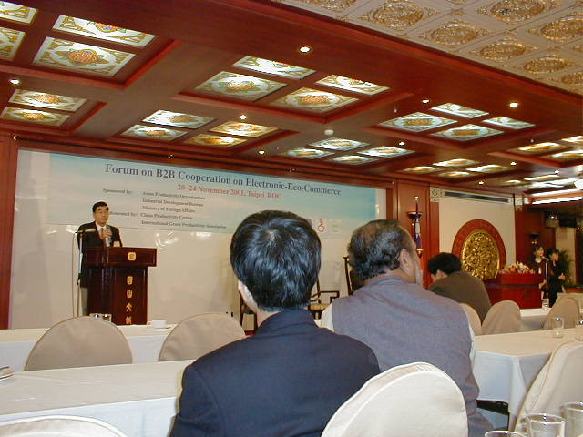 2001, APO International forum in Taiwan representing Japan at the meeting