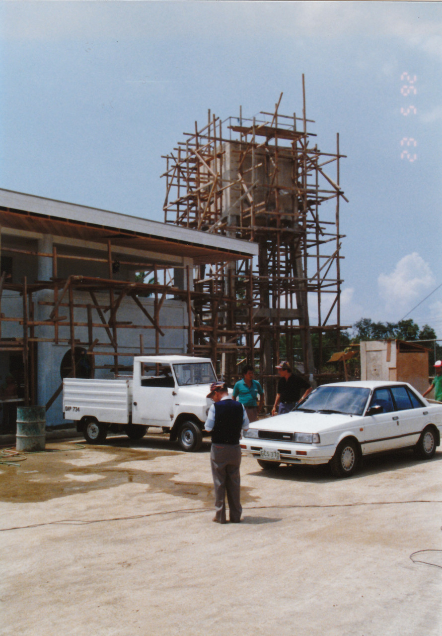 1990, in the Philippines, site aquisition, factory and office construction before start-up