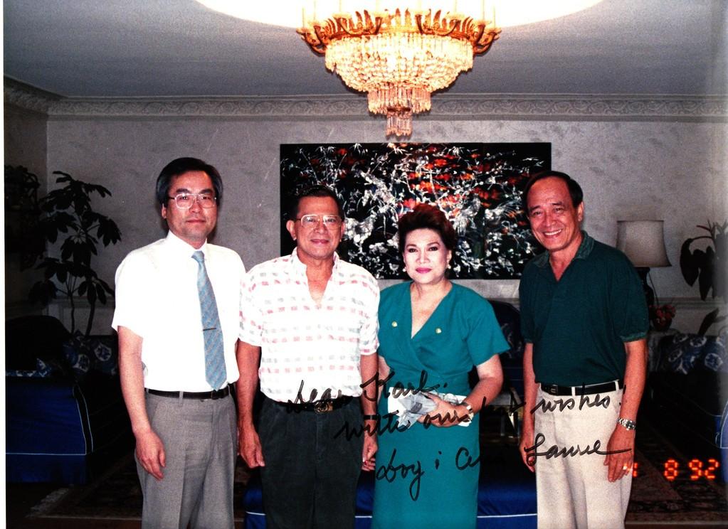 ラウレル・フィリピン副大統領 1992.04.08 企業進出支援時表敬訪問、通訳