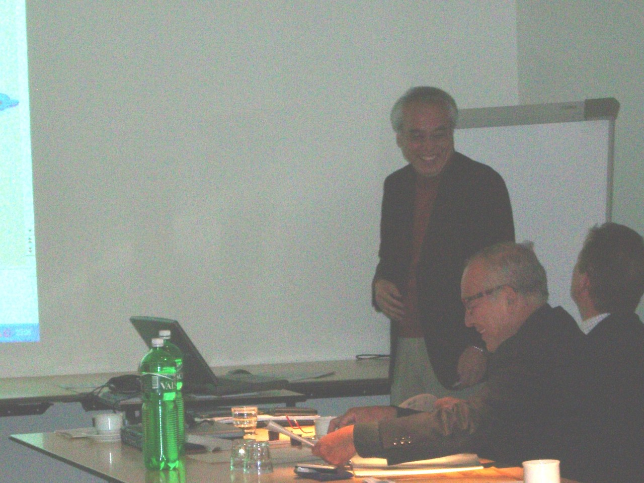 2005.10 Visit to Swiss, Environment business tour in Europe, introducing our own electricity saving technology