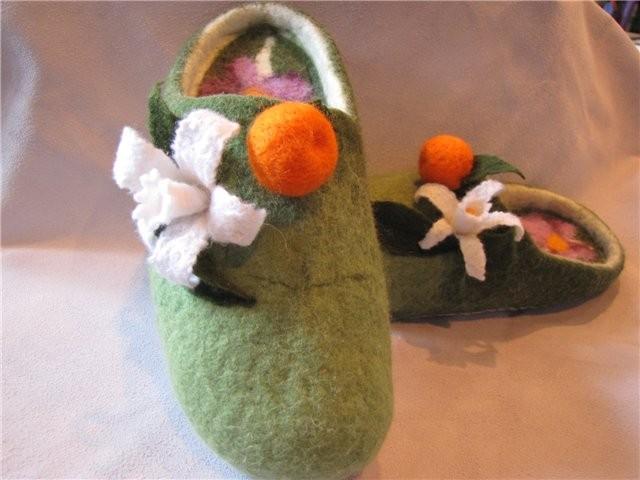 """Тапочки женские домашние """"Апельсиновый аромат"""""""