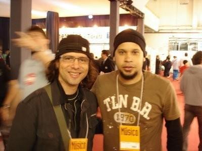 Luciano Magno (produtor do primeiro cd de Fabrício) e Fabrício Ramos