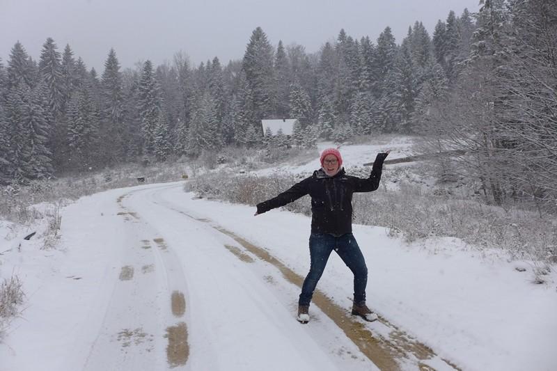 Im Schnee rum stapfen