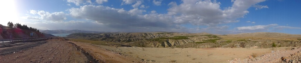 Beautiful landscape on the central Turkish plateau.