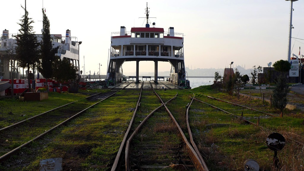 The railway ferry across the Bosporus