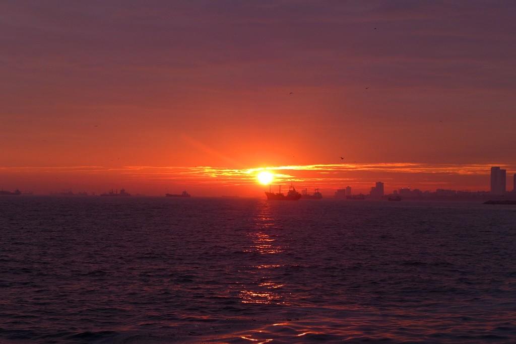 Der Sonnenuntergang von unserem Stellplatz.