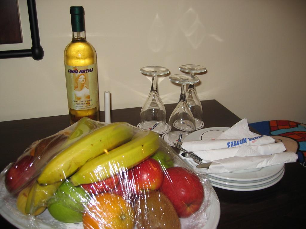 Begrüßung im Hotelzimmer
