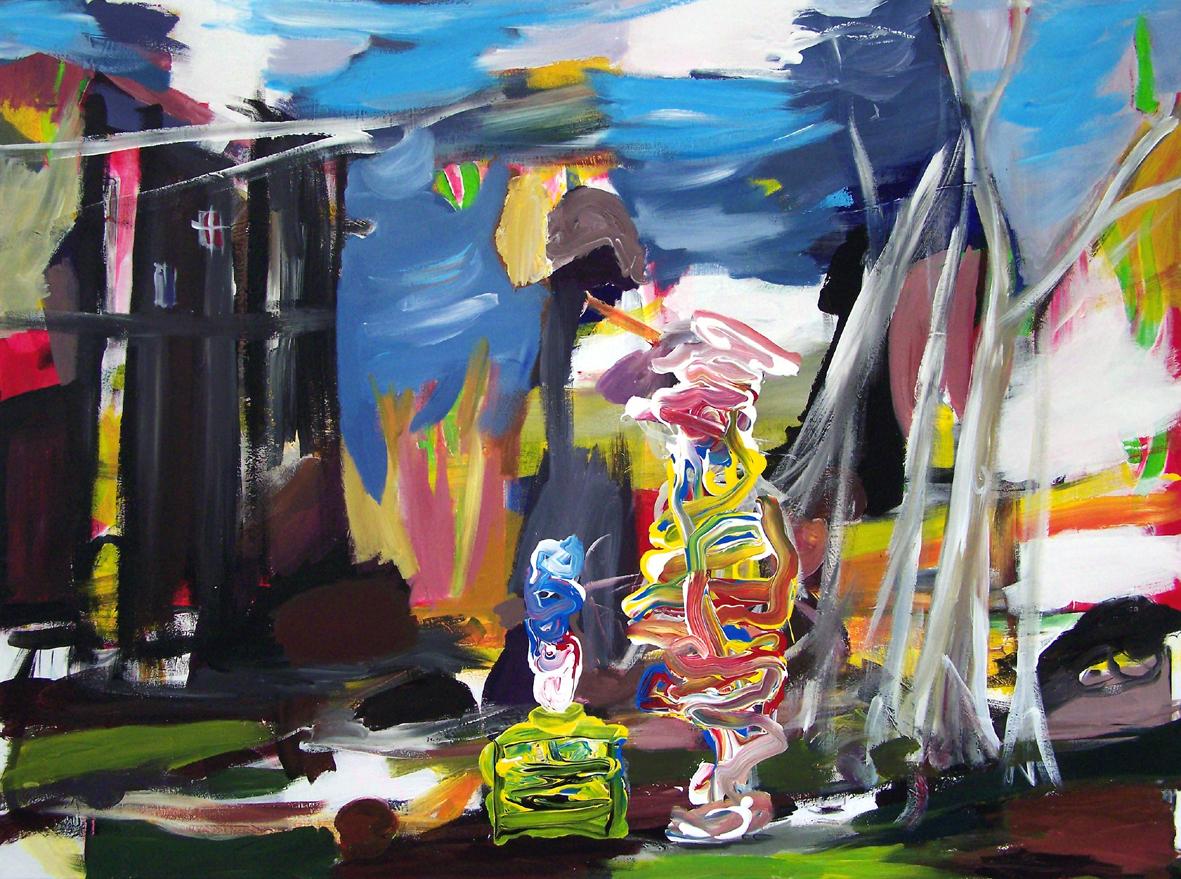 Oliver Kropf, DENKMAL 9, 110 x 150 cm, Acryl auf Baumwolle 2019