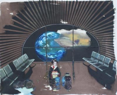 INDRA., Teaceremony, 2013, Mischtechnik / Leinwand, 160 x 130 cm