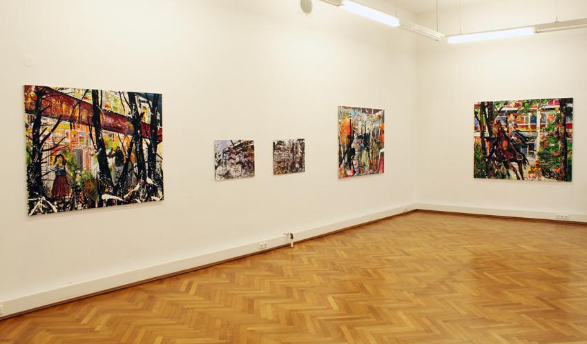 Oliver Kropf, Ausstellungsanischt, Brunnhofer Galerie, 2010