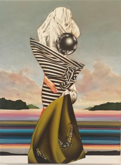 "Jennifer Nehrbass, ""The Gatekeeper"", Öl auf Leinwand, 40,6x30,5 cm, 2016"