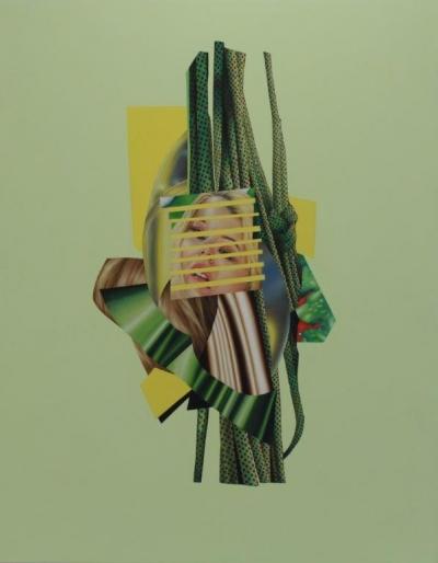 "Jennifer Nehrbass, ""Celedon Wip"", Öl auf Leinwand, 213x168 cm, 2015"