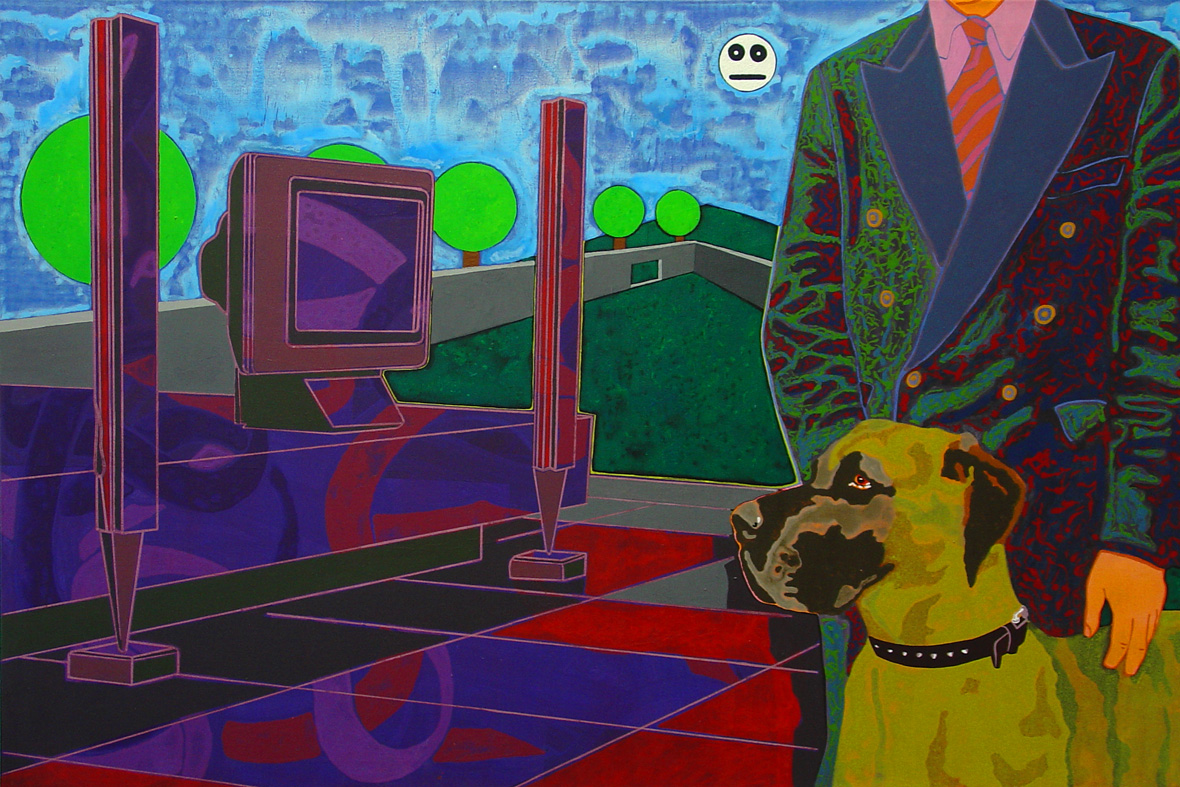 Christoph Schirmer, The Ulrich Beck Case 1 - 2003 Acryl auf Leinwand 100x150cm