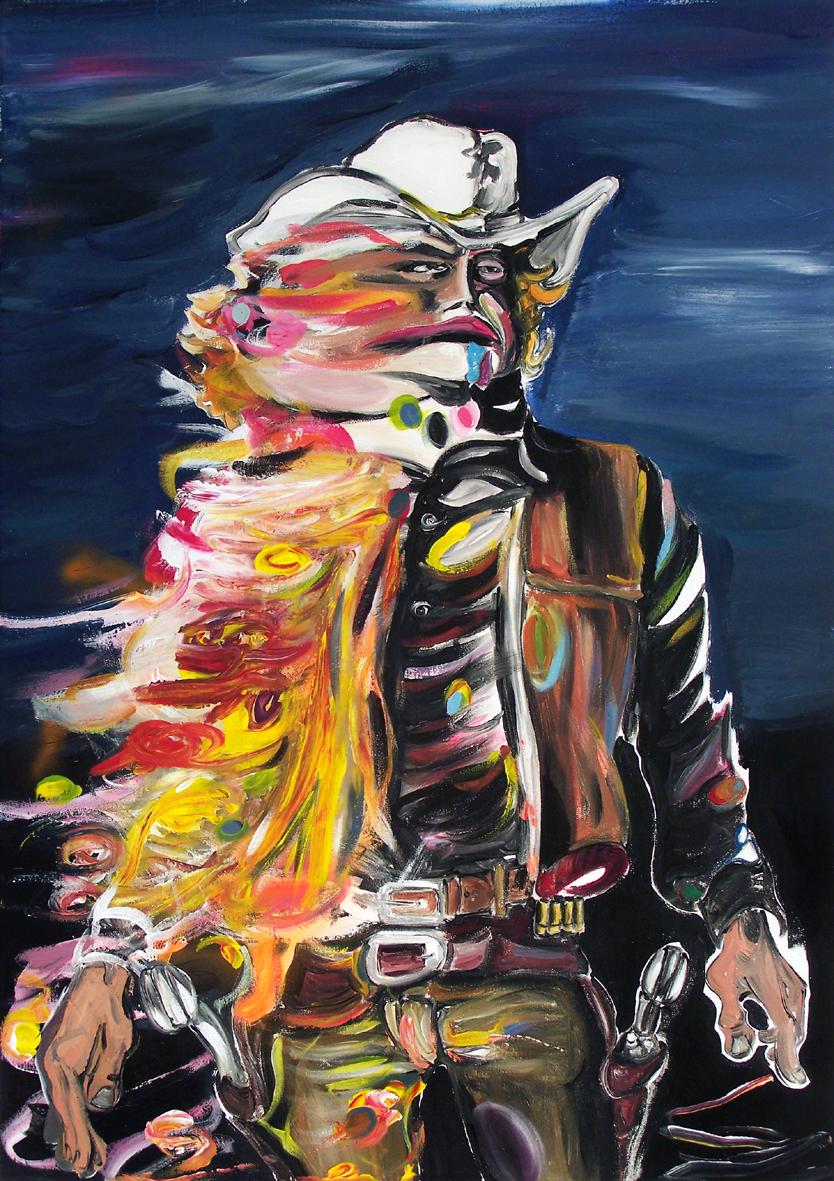 """Oliver Kropf, """"024"""" 100 x 70 cm, Acryl auf Baumwolle, 2020"""