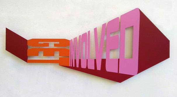 Lucia Dellefant, get involved, 2021, 55 x 120 cm,  2/ 4,  Aluminium gepulvert, Lack
