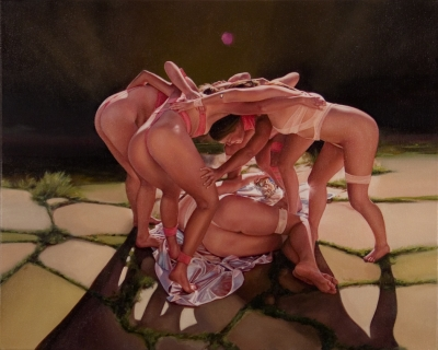 "Jennifer Nehrbass, ""Lights Out"", Öl au Leinwand, 56x71cm, 2010"