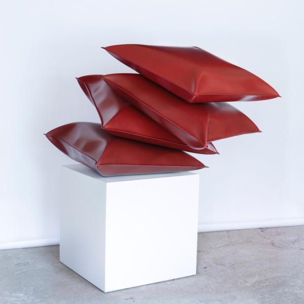 Thomas Kühnapfel, Liver, Steel lacquered – 110 x 110 x 150 cm,  2015