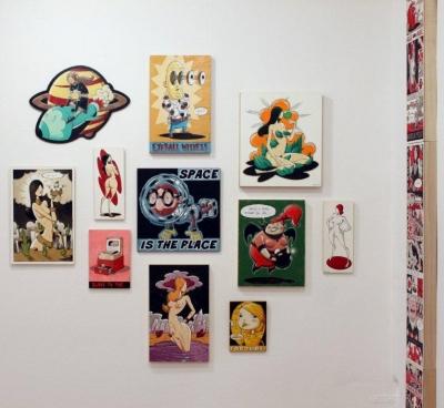 TeER, Ausstellungsansicht Brunnhofer Galerie Next Comic Festival