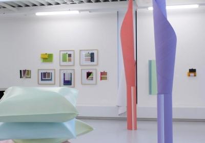 Thomas Kühnapfel und Elisabeth Sonneck, Ausstellungsansicht Brunnhofer Galerie