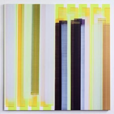 Elisabeth Sonneck, o.T.3 / 1, 2015, Öl auf Leinwand, 145 x 145 cm (insgesamt 3 Arbeiten)